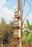 Vecchie caselle elettriche Fotografia Stock Libera da Diritti