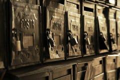 Vecchie caselle postali Fotografie Stock Libere da Diritti