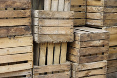 Vecchie casse della frutta Fotografia Stock Libera da Diritti