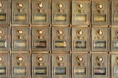 Vecchie cassette postali degli Stati Uniti Fotografia Stock Libera da Diritti