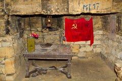 Vecchie catacombe Odessa Immagine Stock
