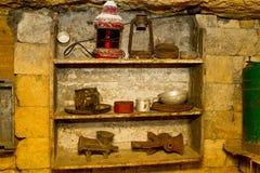 Vecchie catacombe Odessa Immagini Stock