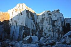 Vecchie cave dell'estrazione di marmo immagine stock libera da diritti