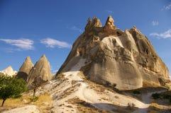 Vecchie caverne in Cappadocia, Turchia Fotografia Stock