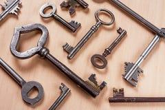 Vecchie chiavi Fotografie Stock
