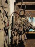 Vecchie chiavi Fotografia Stock