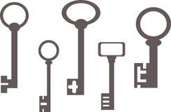 Vecchie chiavi Immagini Stock