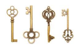 Vecchie chiavi antiche Fotografie Stock Libere da Diritti
