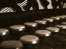 Vecchie chiavi della fisarmonica Immagini Stock Libere da Diritti