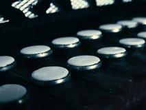 Vecchie chiavi della fisarmonica Fotografia Stock