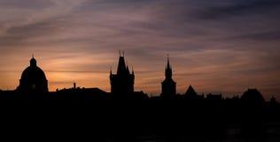 Vecchie chiese della città a Praga, repubblica Ceca Immagini Stock