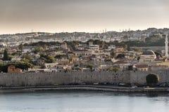 Vecchie città e fortificazioni di Rodi Fotografia Stock