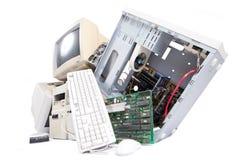 Vecchie componenti di computer Fotografia Stock