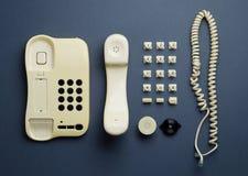 Vecchie componenti domestiche del telefono Fotografia Stock