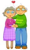 Vecchie coppie amorose Fotografia Stock Libera da Diritti