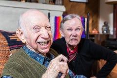 Vecchie coppie arrabbiate Immagini Stock