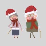 Vecchie coppie di Natale 3d Fotografia Stock Libera da Diritti