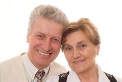Vecchie coppie felici Immagini Stock