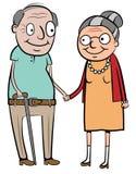 Vecchie coppie felici Fotografia Stock