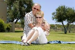 Vecchie coppie felici Fotografie Stock Libere da Diritti