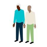 Vecchie coppie isometriche gay Immagini Stock Libere da Diritti