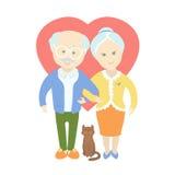 Vecchie coppie sveglie felici - nonna e nonno Fotografia Stock Libera da Diritti