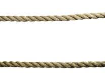 Vecchie corde isolate Fotografie Stock Libere da Diritti