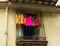 Vecchie costruzioni a Avana, Cuba Immagini Stock Libere da Diritti