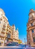 Vecchie costruzioni a Barcellona Fotografia Stock