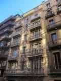 Vecchie costruzioni Barcellona fotografia stock