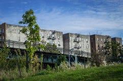 Vecchie costruzioni Bronx Immagini Stock