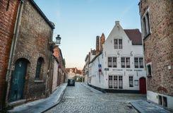 Vecchie costruzioni a Bruges, Belgio immagine stock