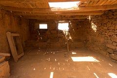 Vecchie costruzioni coloniali Casa de los Coroneles a La Oliva sopra Fotografie Stock