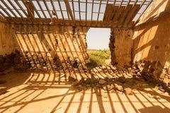 Vecchie costruzioni coloniali Casa de los Coroneles a La Oliva su Fu Fotografia Stock Libera da Diritti