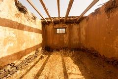 Vecchie costruzioni coloniali Casa de los Coroneles a La Oliva su Fue Fotografia Stock Libera da Diritti