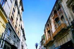 Vecchie costruzioni della città Fotografie Stock