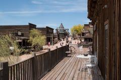 Vecchie costruzioni della città di selvaggi West fotografie stock