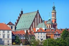 Vecchie costruzioni della città di Varsavia fotografia stock libera da diritti