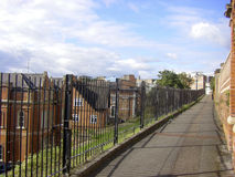 Vecchie costruzioni di mattone tipiche a Nottingham fotografia stock