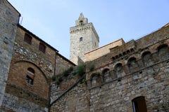 Vecchie costruzioni di San Gimignano Fotografia Stock Libera da Diritti