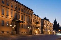 Vecchie costruzioni a Helsinki Fotografia Stock