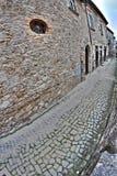 Vecchie costruzioni italiane in HDR - foto del fish-eye Fotografia Stock Libera da Diritti