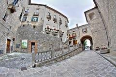 Vecchie costruzioni italiane in HDR - foto del fish-eye Immagini Stock Libere da Diritti