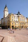 Vecchie costruzioni nel quadrato principale a Pecs Ungheria Fotografie Stock Libere da Diritti