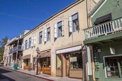 Vecchie costruzioni in Nevada City storica Fotografia Stock Libera da Diritti