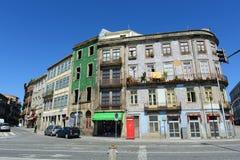 Vecchie costruzioni a Oporto, Portogallo Immagini Stock Libere da Diritti