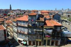 Vecchie costruzioni a Oporto, Portogallo Fotografia Stock Libera da Diritti