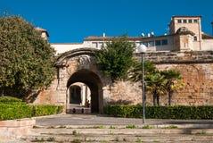Vista della via in Palma de Majorca Immagini Stock Libere da Diritti