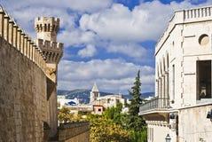 Vista della via in Palma de Majorca Fotografia Stock Libera da Diritti