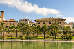 Vecchie costruzioni in Palma De Mallorca Immagine Stock